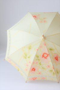 着物を日傘へリメイク きもの日傘