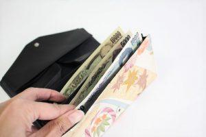 着物を長財布にリメイクします
