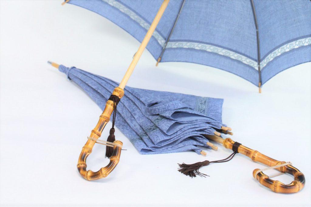 きもの日傘 水色