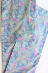 きもの日傘 水色紬着物
