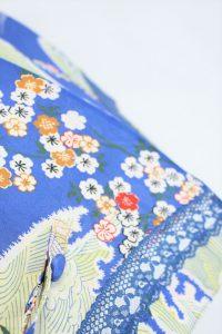 きもの日傘 青色小紋
