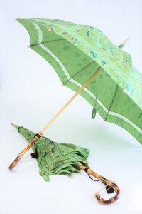 きもの日傘 グリーン小紋から2本日傘