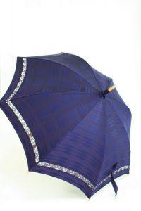 きもの日傘 雨コート 斜め正面から見た