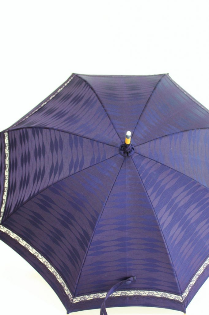 きもの日傘 雨コート 正面から見た