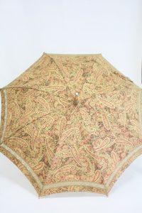 きもの日傘 ペイズリー柄小紋 正面から見た