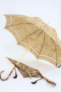きもの日傘 ペイズリー柄小紋で2本の日傘