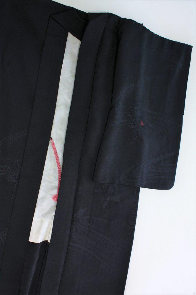 きもの日傘 黒羽織