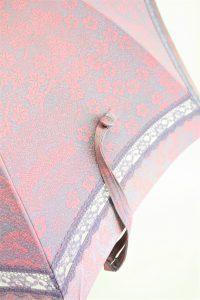 きもの日傘 梅柄の着物 レース部分