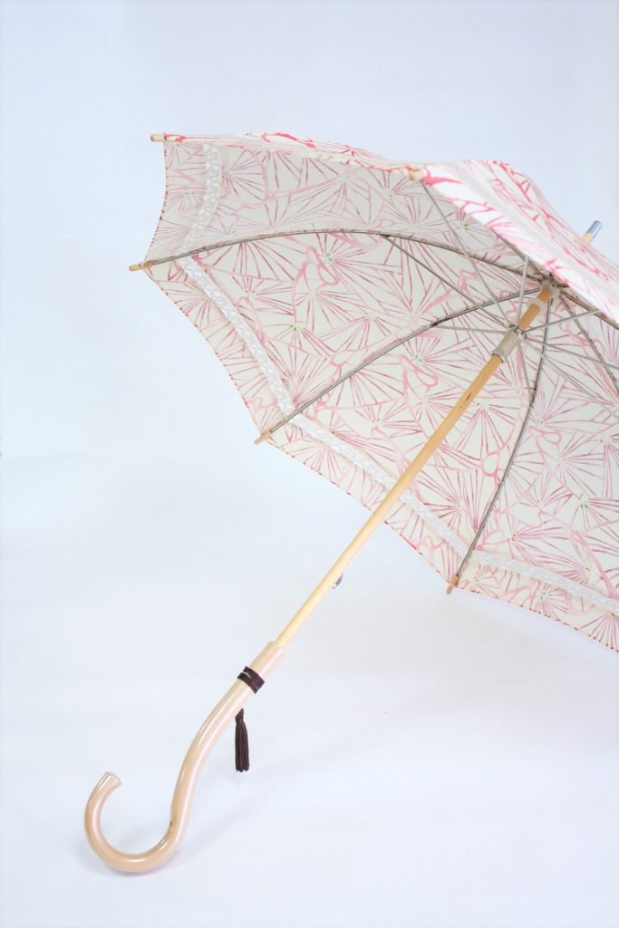 きもの日傘 道行コート 斜めから見た