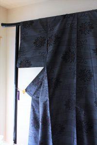 きもの日傘 大島紬
