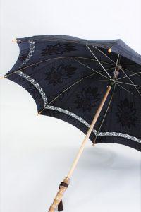 きもの日傘 大島紬 斜めから見た