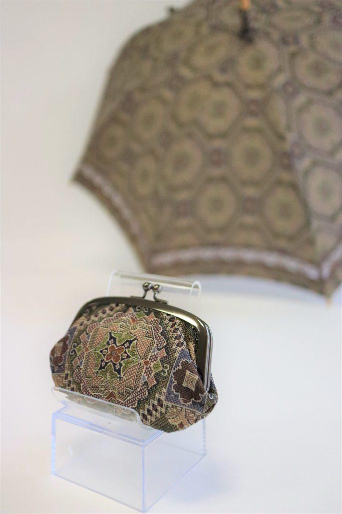 きもの日傘とお揃いのがま口財布