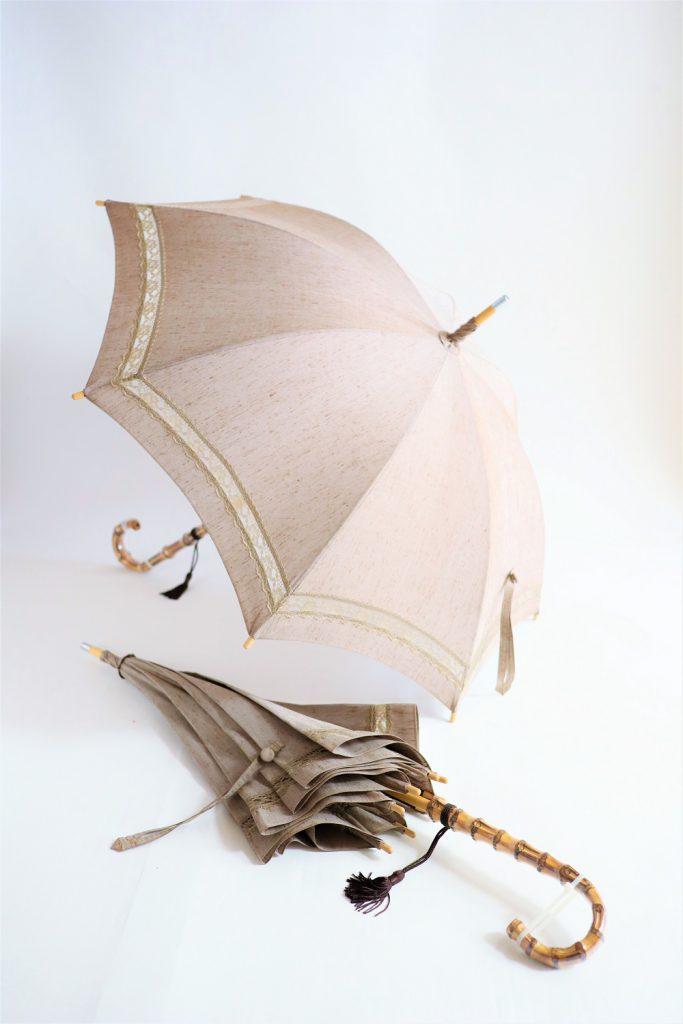 きもの日傘 紬の着物 2本
