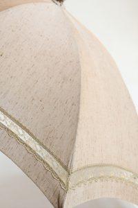 きもの日傘 紬の着物 レース部分