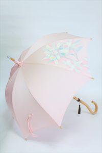 きもの日傘 訪問着 斜め正面から見た