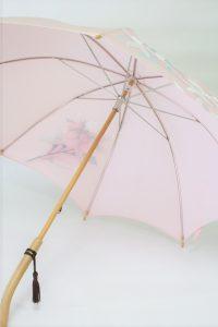 きもの日傘 訪問着 斜めから見た