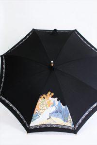 きもの日傘 黒留袖 正面から見た