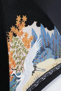 きもの日傘 黒留袖 レース部分