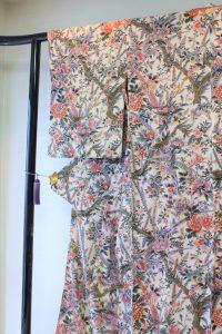 きもの日傘 オリエンタル花柄小紋