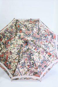 きもの日傘 オリエンタル花柄きもの 正面から見た