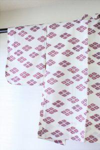 きもの日傘 白地の羽織
