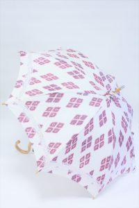 きもの日傘 羽織 斜め正面から見た