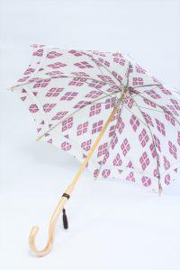 きもの日傘 羽織 斜めから見た