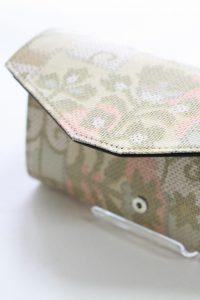 大島紬の着物を長財布へリメイク